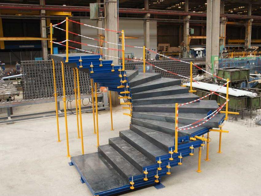 Molde para escaleras prefabricadas de hormigón
